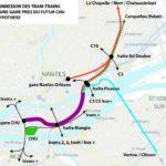 connexion des trams-trains à une gare près du futur CHU